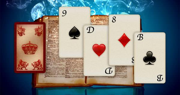 Kartendeutung mit Skatkarten