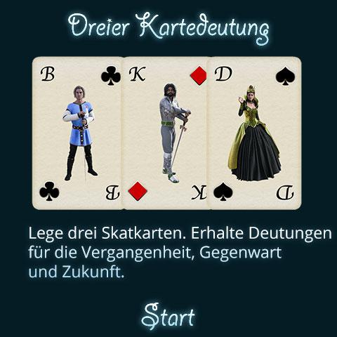 Dreier Kartendeutung Titel
